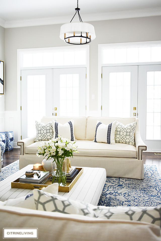 Surprising Living Room Reveal With New White Sofas Caraccident5 Cool Chair Designs And Ideas Caraccident5Info