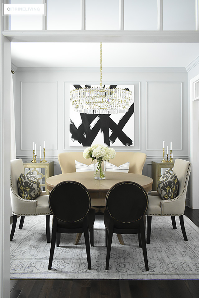 Dining Room Makeover Reveal New Gray