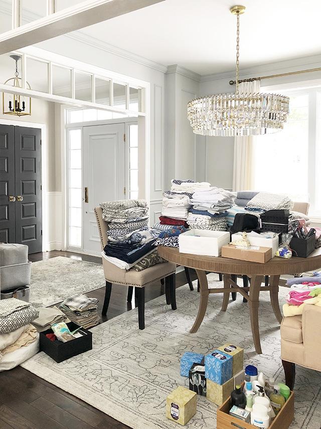linens for the closet