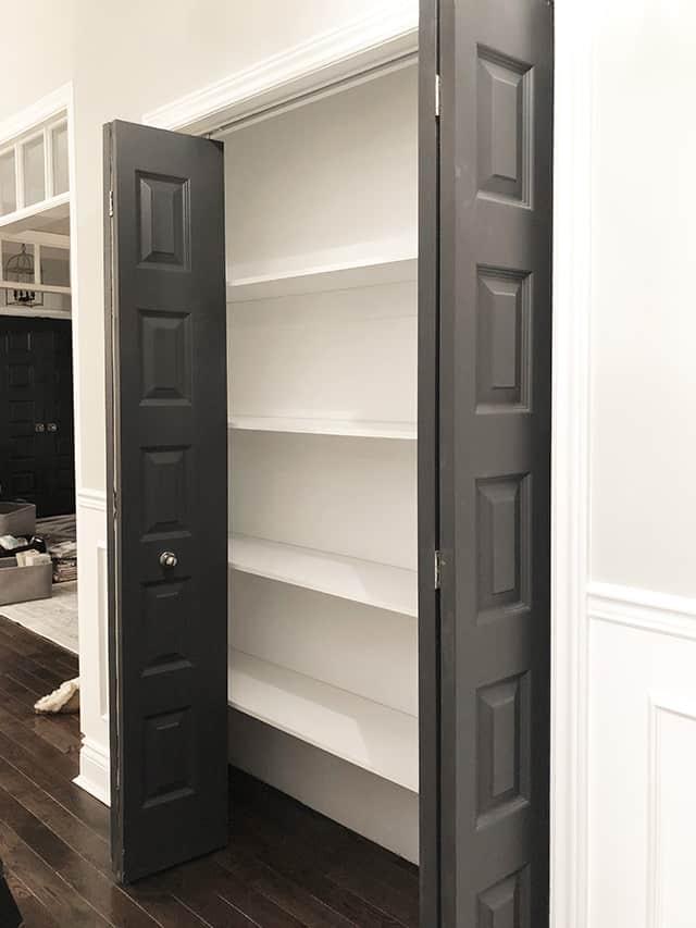 empty linen closet