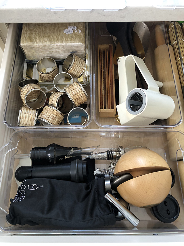 Organizing projects: practical clear storage bins to tame the drawer clutter!