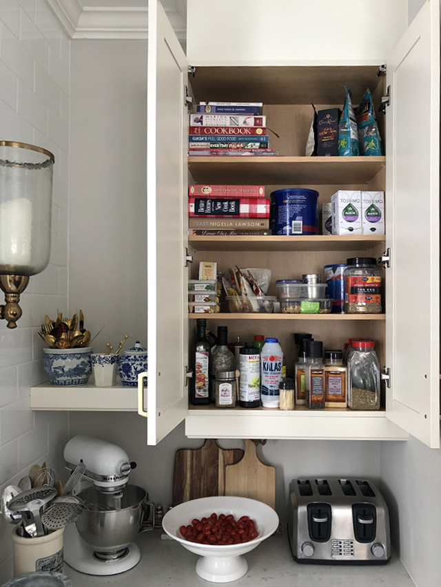 Current organizing projects - our spice tiny cupboard is in need of cleaning out and prettying up!