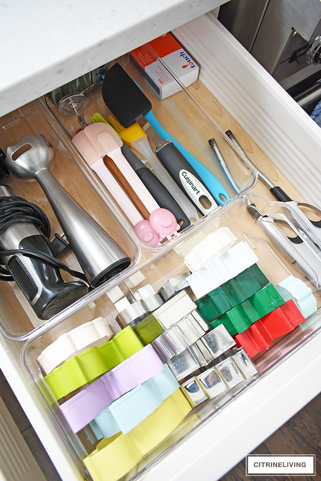 organized kitchenware drawer