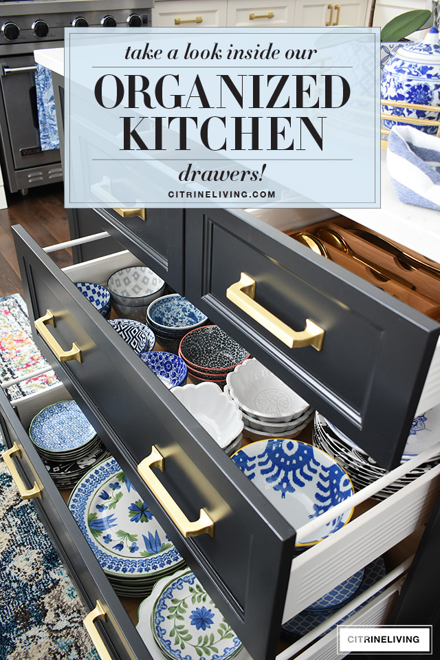 Organized kitchen drawers that are functional and beautiful!