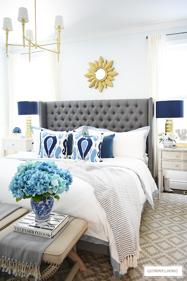 SPRING MASTER BEDROOM DECORATING TIPS - CITRINELIVING