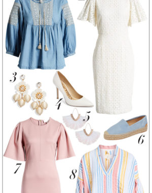 Pastel wardrobe essentials, beautiful dresses and boho tops