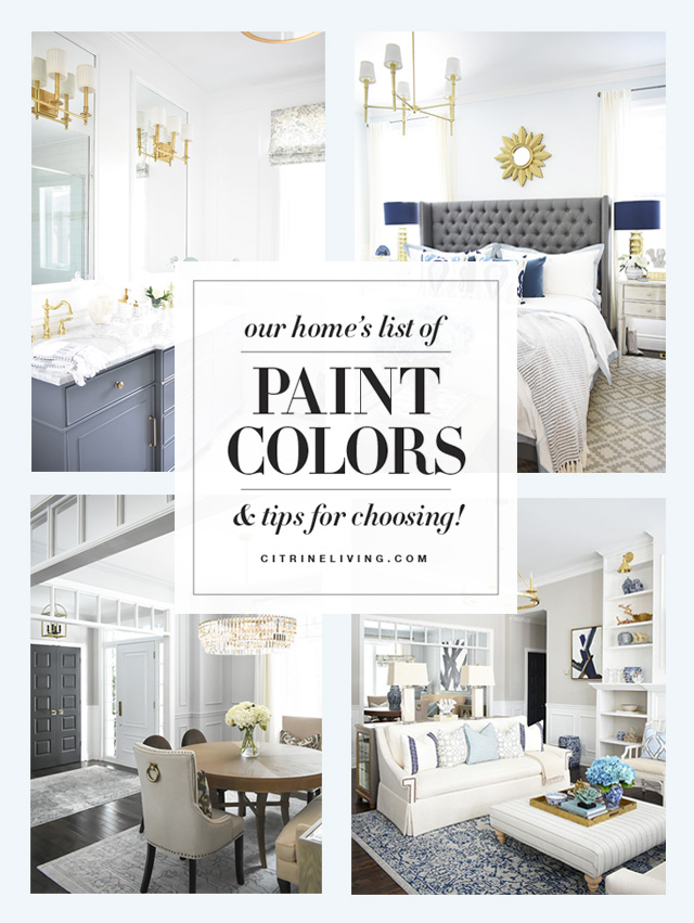 A full list of the paint colors throughout our home, both old and new! Our open concept home has several different colors, throughout, see how we use them!