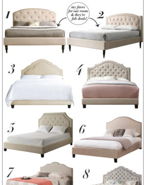 Beautiful selection of favorite upholstered beds