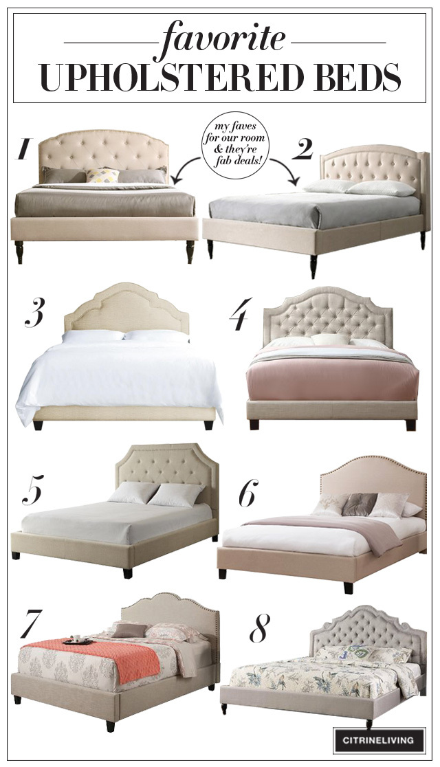 We're updating our master bedroom and I'm sharing a roundup of my favorite upholstered beds, plus the two top contenders for our refresh!