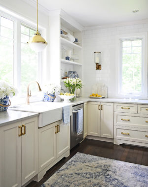 Our Cassidy faucet by Delta Faucet is one of my favorite additions to our kitchen!