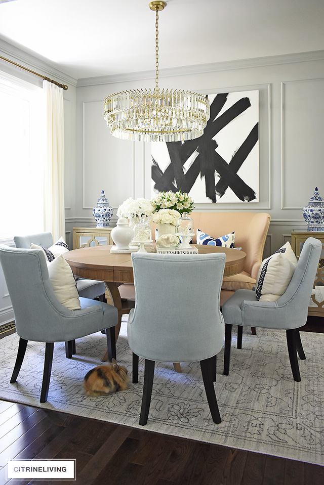 SUMMER DINING ROOM DECORATING - CITRINELIVING