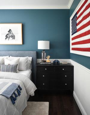 Teen boy bedroom with a modern coastal vibe