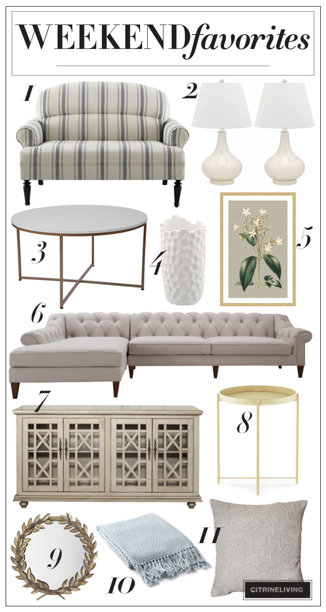 Vintage chic meets modern sensibility in this elegant home decor roundup!