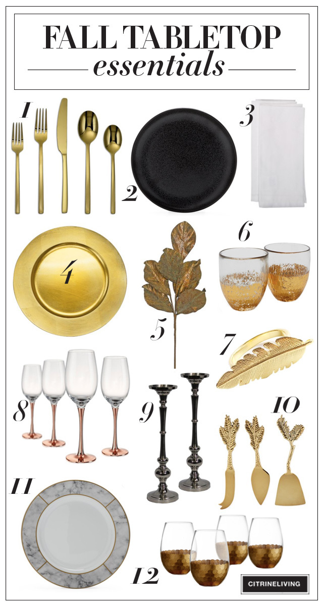 Fall tabletop entertaining essentials from Walmart - gorgeous pieces at affordable prices to get your holiday entertaining started!