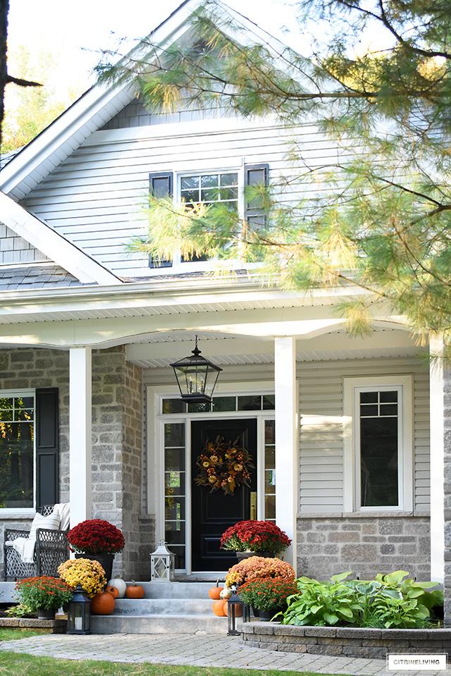 vibrant front porch