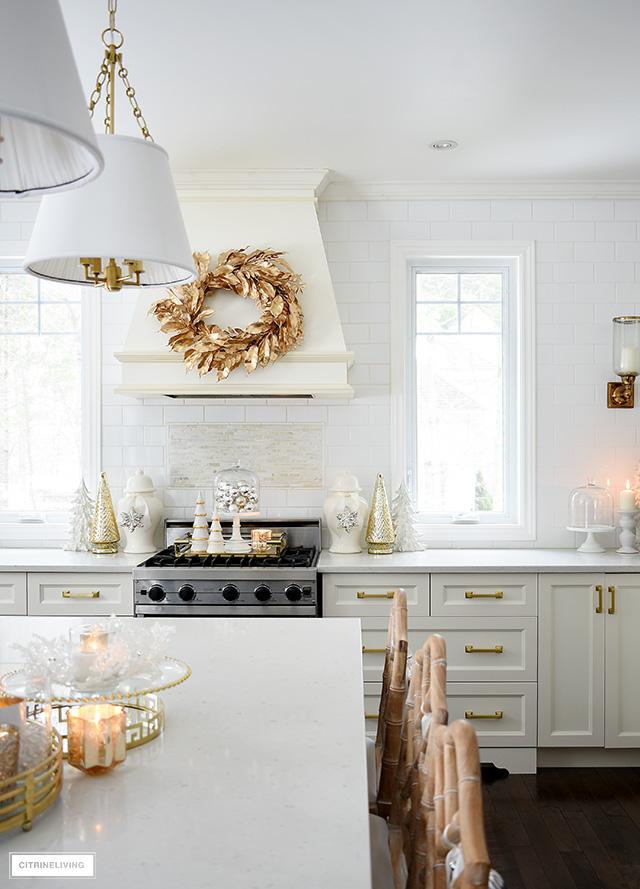 Elegant Christmas Kitchen Decorating Citrineliving