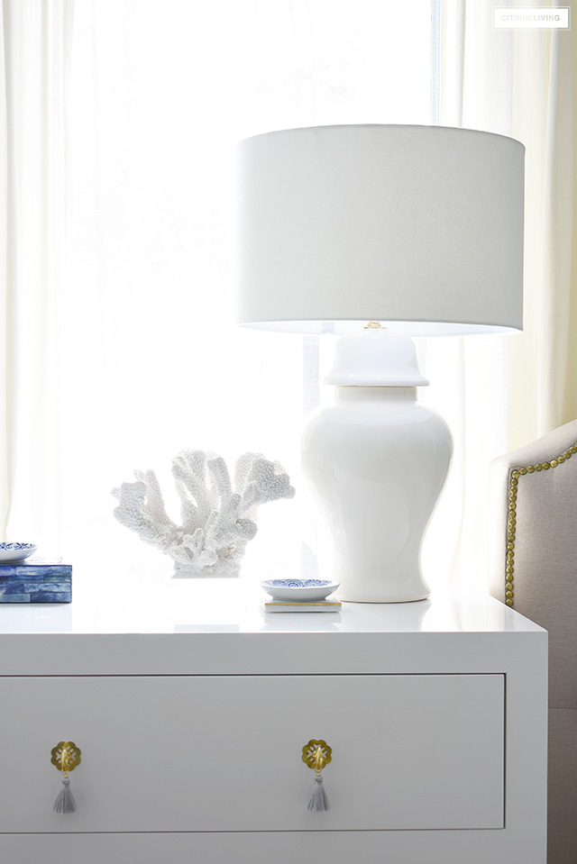 Elegant ginger jar lamps are classic and timeless in any space.