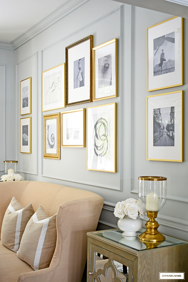 A sophisticated and curated DIY gallery wall is all you need to elevate the look of any room!