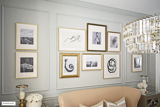 A gorgeous DIY gallery wall elevates the look of any space. You can create this look so easily!