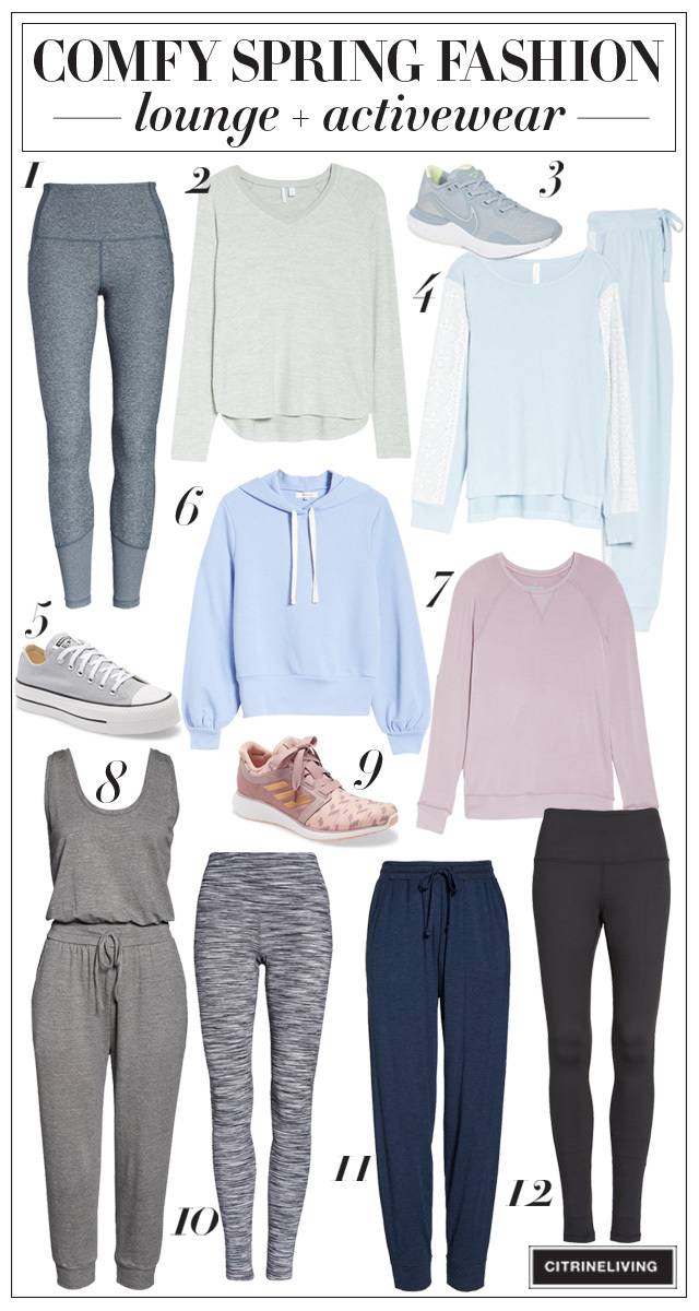 Comfy loungewear and activewear