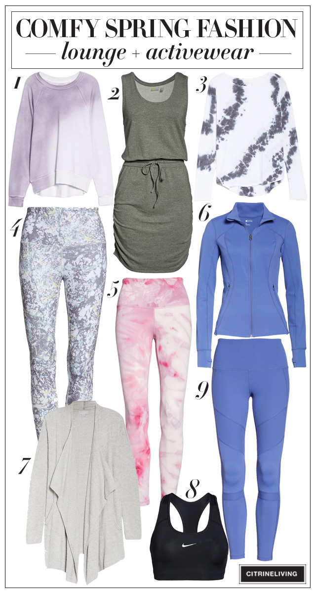 Easy loungewear and activewear pieces for spring
