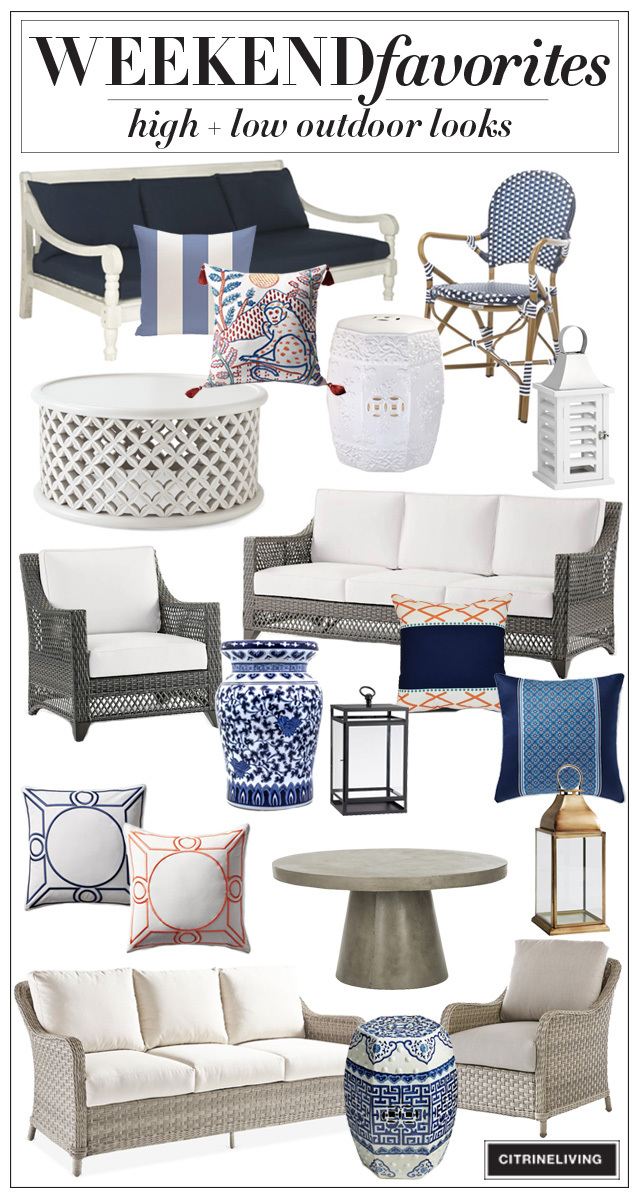 Gorgeous and super stylish high + low outdoor furniture and accessories!