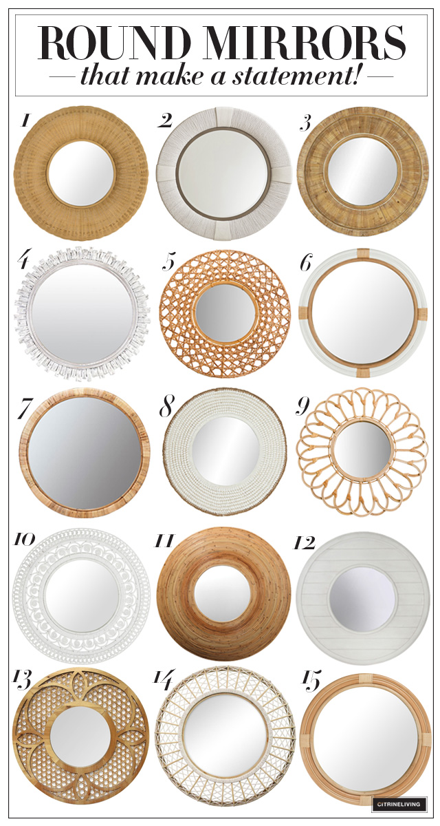 Large round mirror roundup