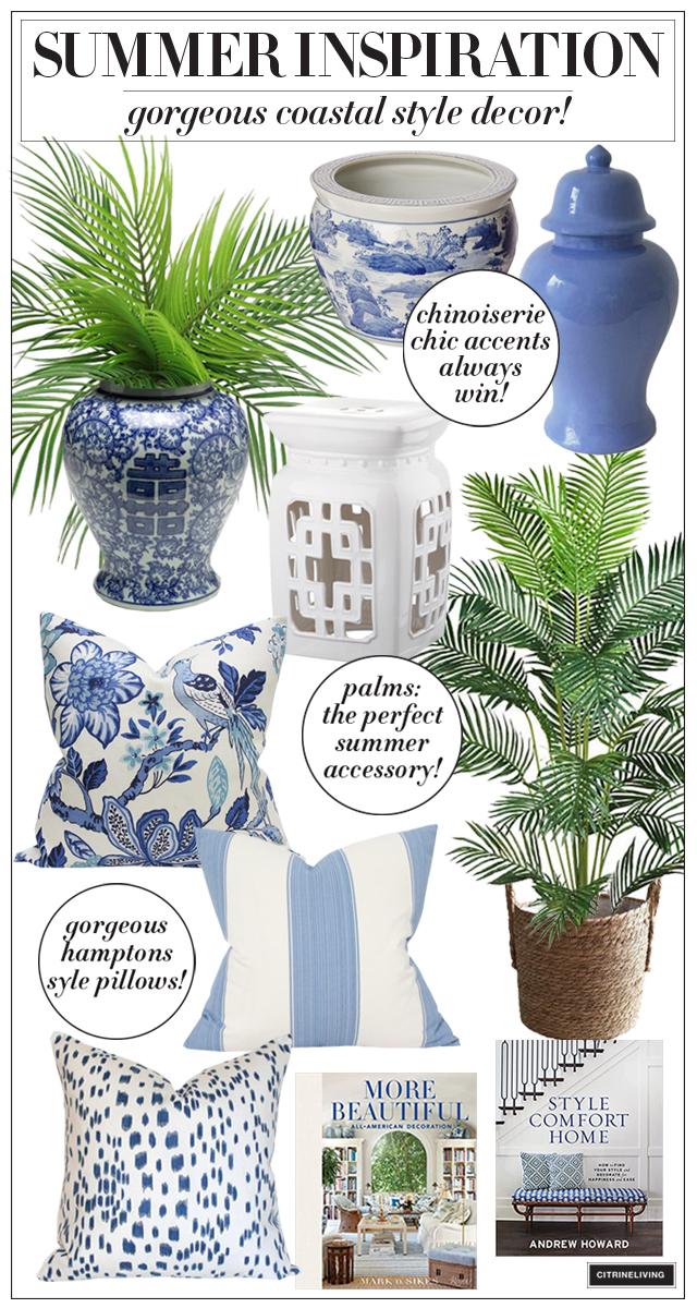 Gorgeous coastal style decorating ideas for summer
