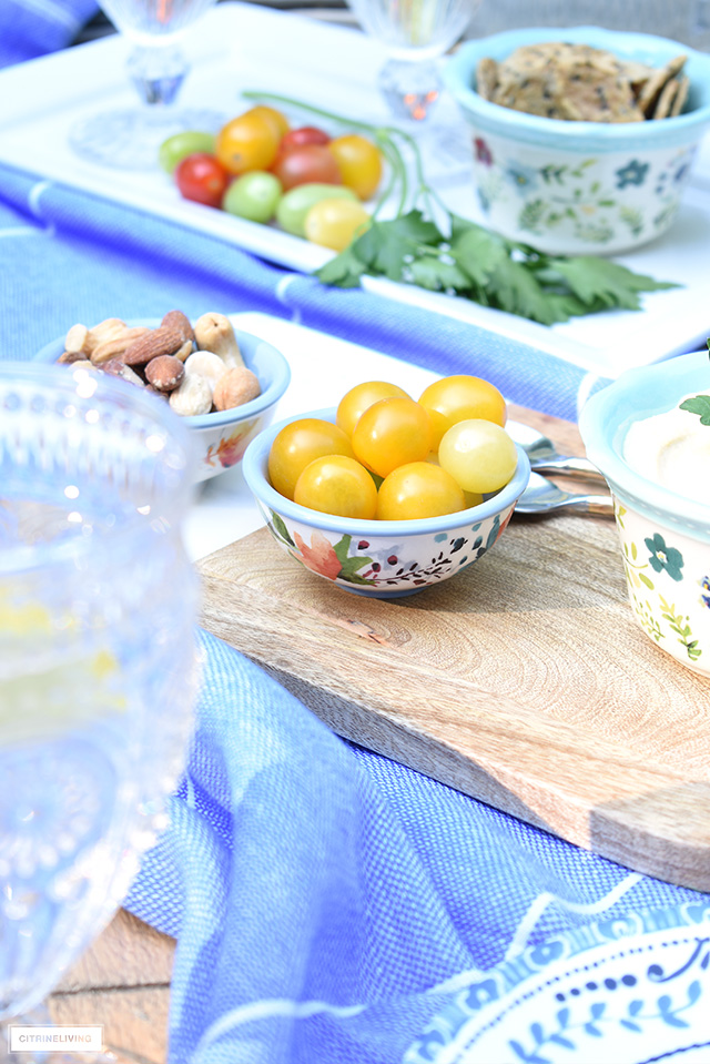 Mini dip bowls perfect for small snacks for summer.