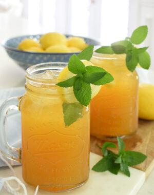 Sweet iced tea with lemon recipe