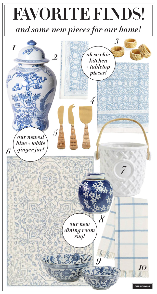 Blue and white coastal home decor finds that are effortless and chic!