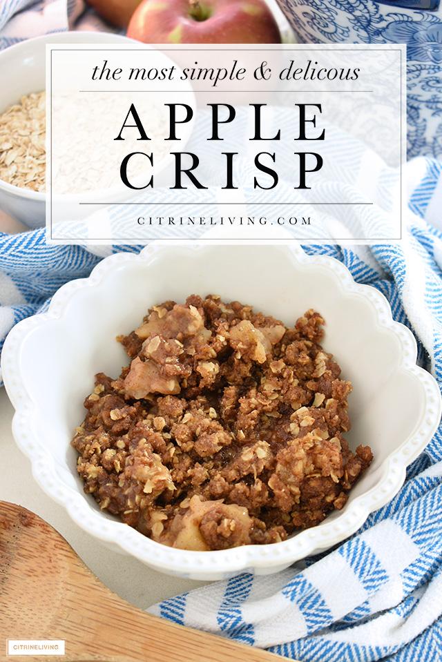 Delicious and easy apple crisp recipe