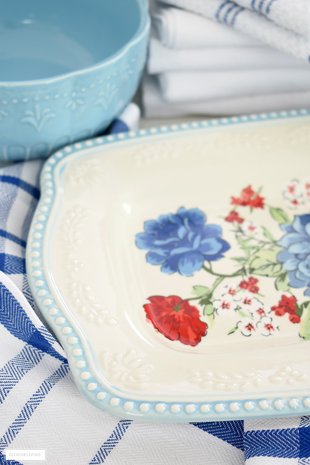 Pioneer Woman Classic Charm floral platter.